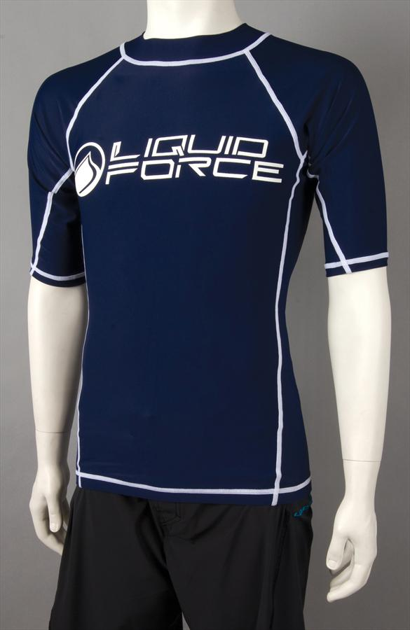Liquid Force JR Tight Ride Thermal Riding Top, Junior Large SS, Navy