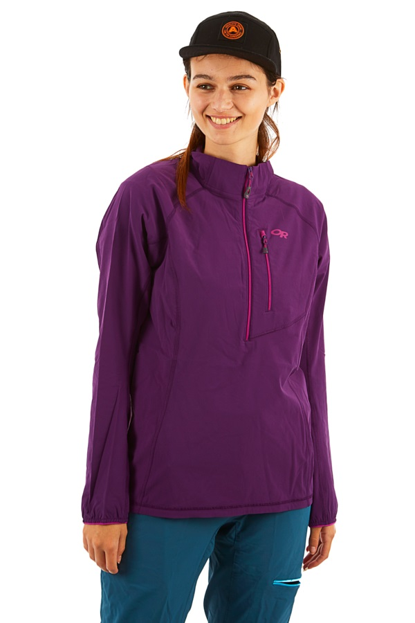 Outdoor Research Women's Ferrosi Windshirt Pullover, M Elderberry