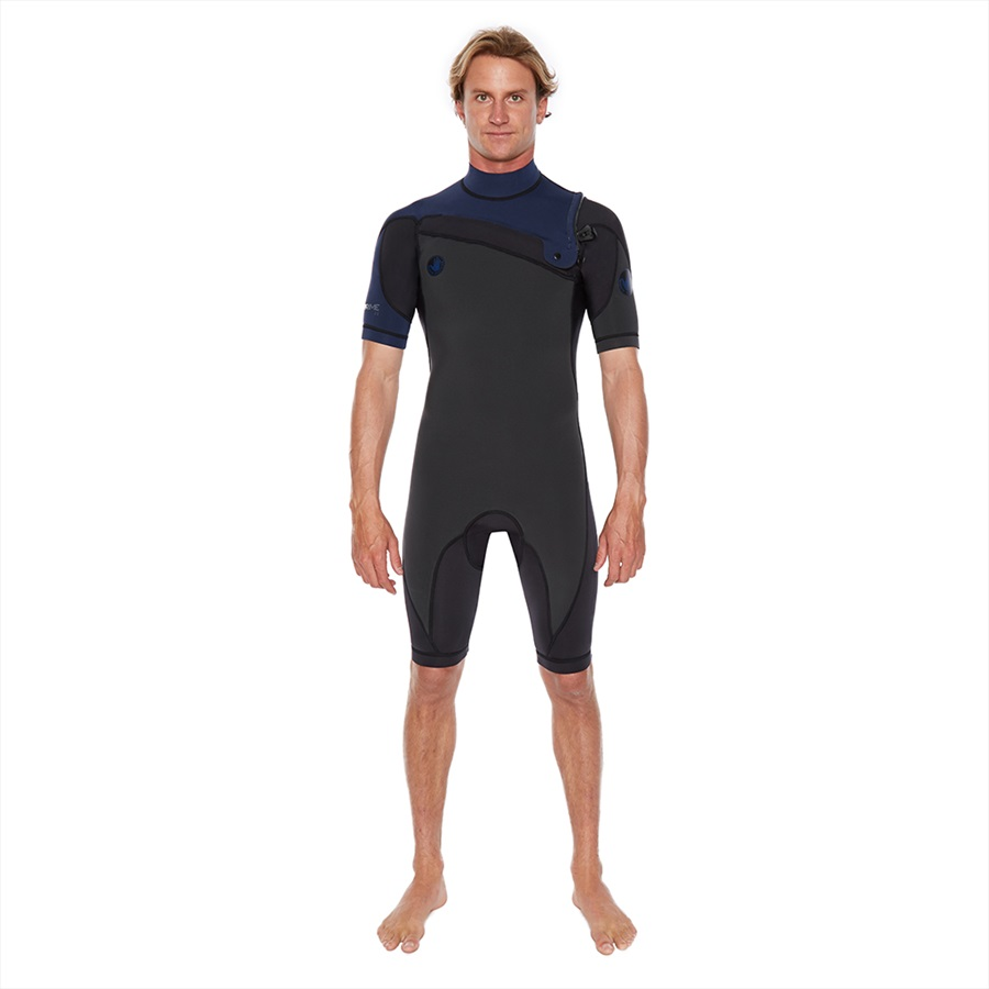 Body Glove Pr1me 2/2 Slant Zip Shorty Spring Surfing Wetsuit, MS Navy