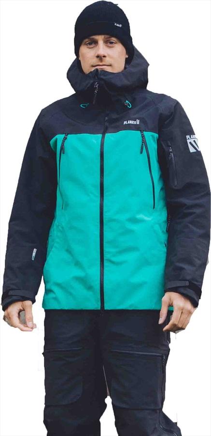 Planks Yeti Hunter 3L Snowboard/Ski Jacket, M Teal