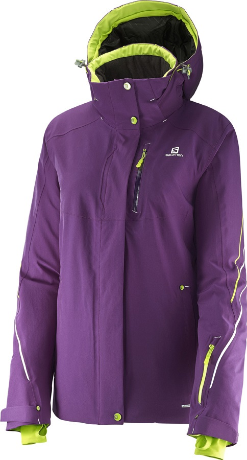 Salomon Brilliant Women's SkiSnowboard Jacket, M, Cosmic Purple