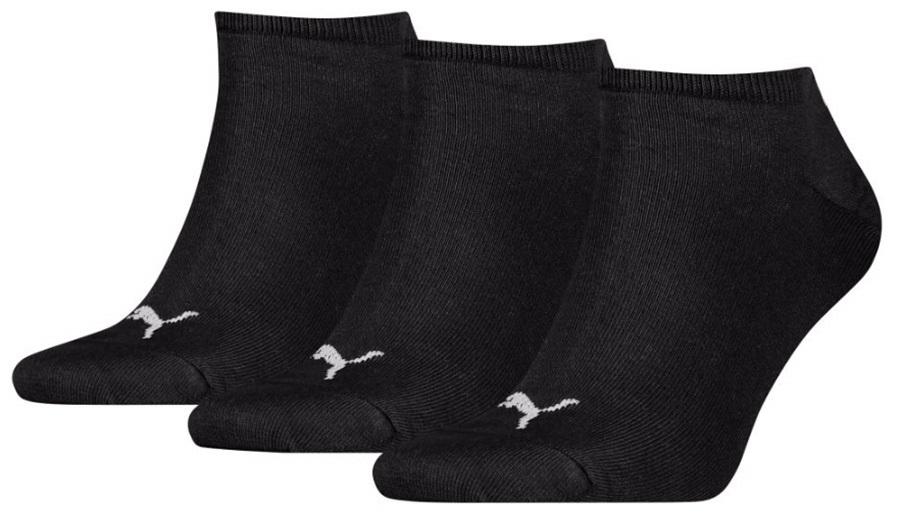 Puma Sneaker Invisible Trainer Socks 9-11 Black