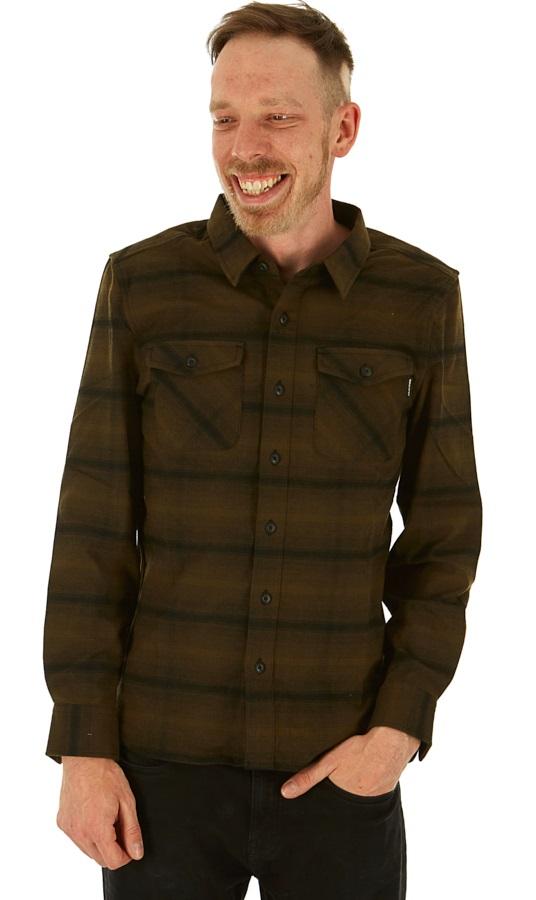Dakine Underwood Long Sleeve Flannel Shirt, S Dark Olive