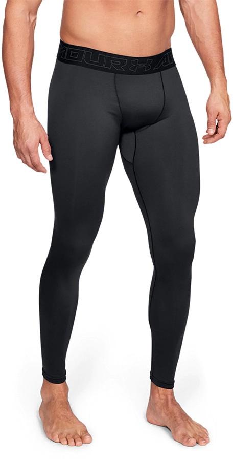 Under Armour ColdGear Leggings Men's Running Long Tights, XL Black