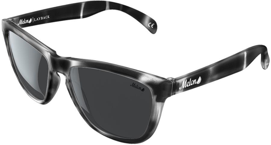 Melon Layback Smoke Polarized Sunglasses, Black Tortoise