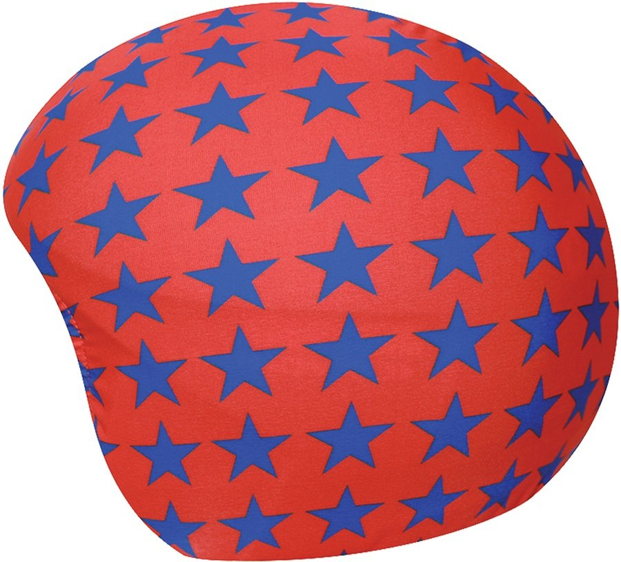 Coolcasc Printed Cool Ski/Snowboard Helmet Cover, One Size, Red Stars