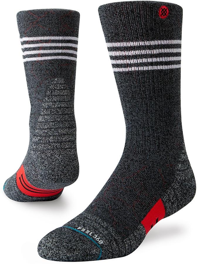 Stance Uncommon Arnot Trek Crew Walking/Hiking Socks, M Black