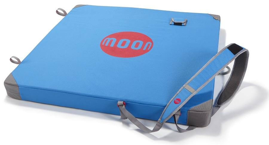 Moon Pluto Bouldering Crash Pad: 100 X 100 X 8cm, Blue Jewel