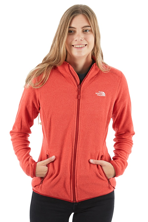 The North Face 100 Glacier Full Zip Women's Fleece Jacket, L Red