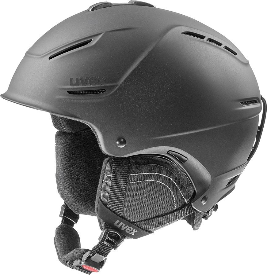 UVEX P1us 2.0 Ski/Snowboard Helmet, L Black Met Matte
