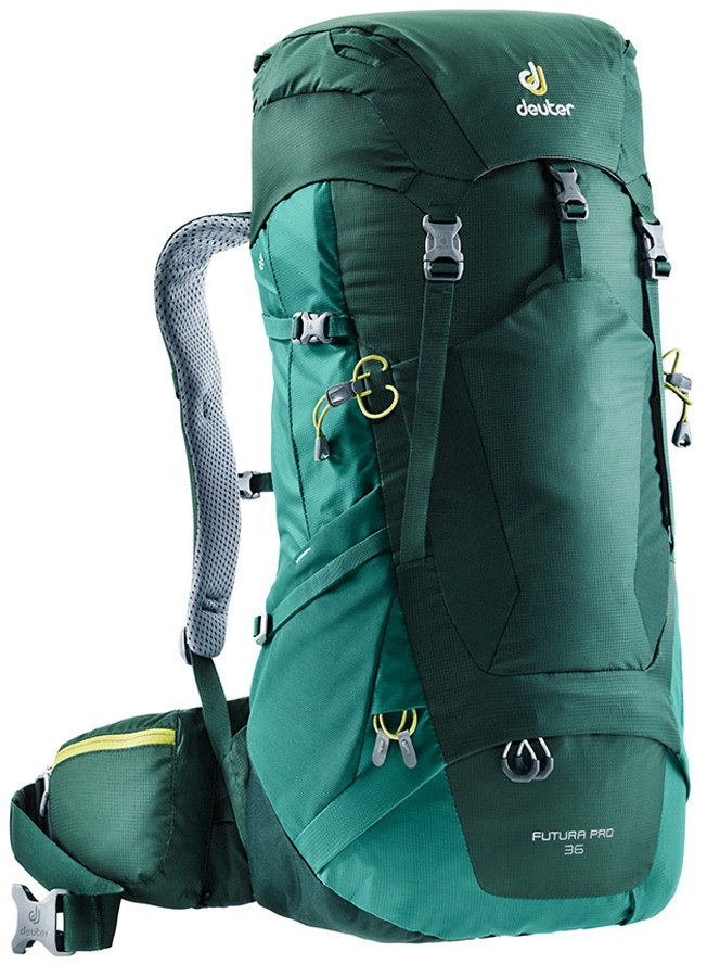 Deuter Futura Pro 36 Hiking Backpack, 36L Forest-Alpinegreen