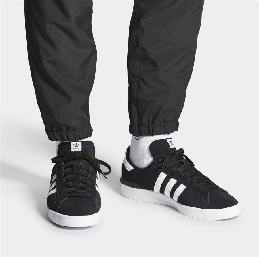 Adidas Campus ADV Men's Trainers Skate Shoes, UK 8 GreyWhiteGold