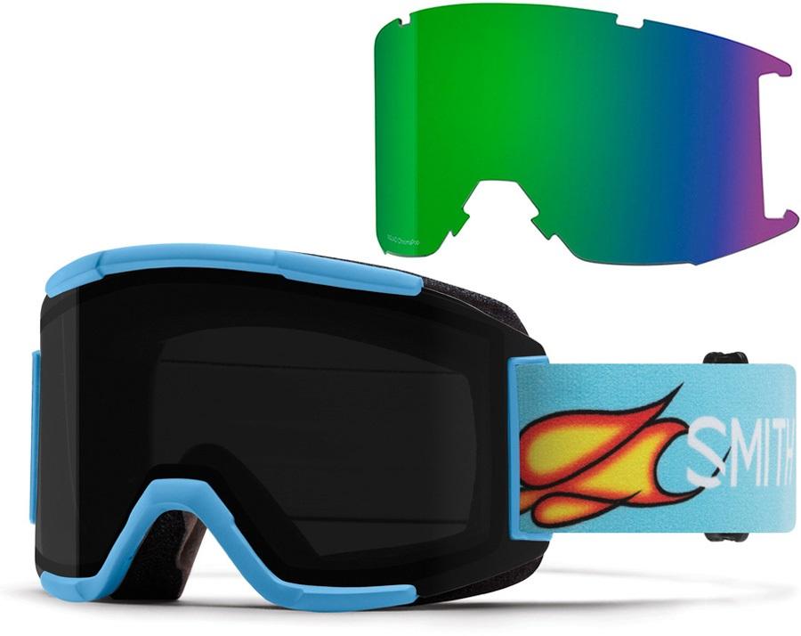 Smith Squad CP Sun Black Snowboard/Ski Goggles, M Scott Stevens