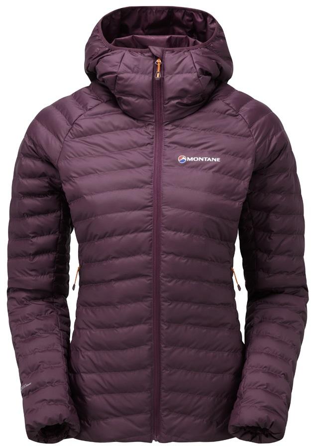Montane Phoenix Baffle Women's Insulated Hooded Jacket, XS Berry