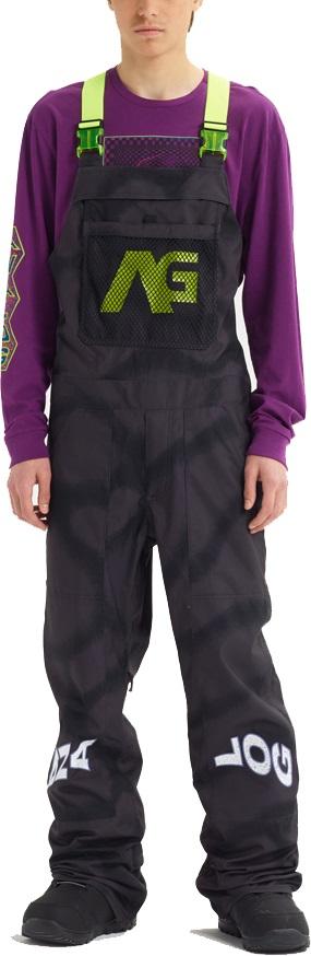 Analog Ice Out Bib Snowboard/Ski Pants, M Fat Cap Camo