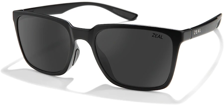 Zeal Campo Dark Grey Sunglasses, Matte Black
