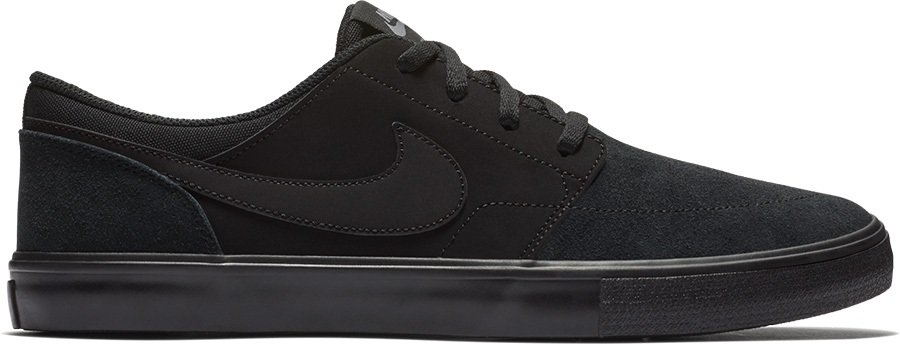 Nike SB Portmore II Solar Skate Shoes, UK 7 Black/Gunsmoke