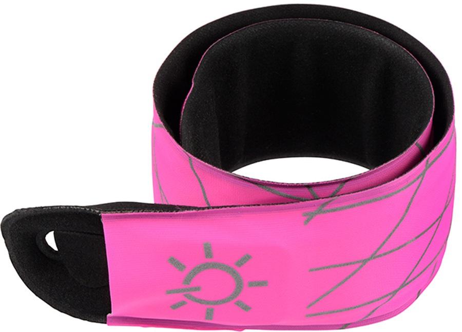 Nite Ize SlapLit LED Slap Wrap High Visibility Light Up Armband, Pink