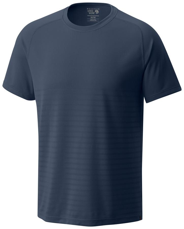 Mountain Hardwear MHW VNT Short Sleeve Shirt, S Zinc