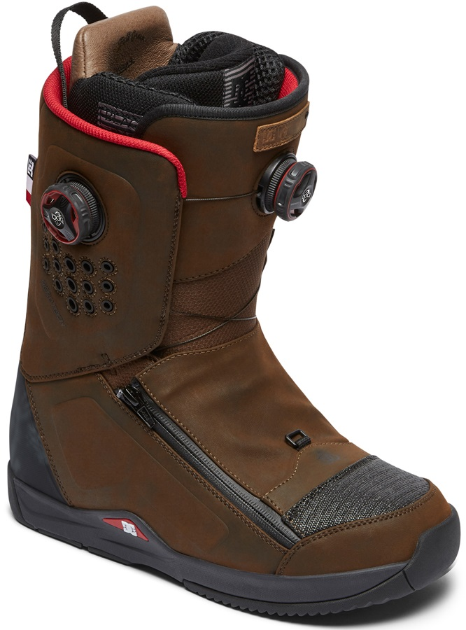 DC Travis Rice Boa Snowboard Boots, UK 7.5 Brown 2019