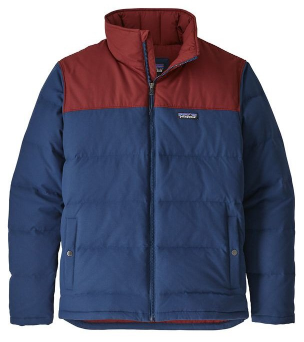Patagonia Bivy Down Insulated Water-Resistant Jacket, L Stone Blue