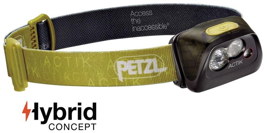 Petzl Actik Headlamp Headtorch, 300 Lumens Green