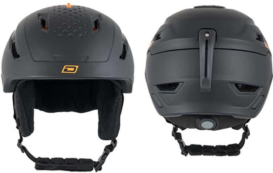 Dirty Dog Meteor Snowboard/Ski Helmet, M Black Orange