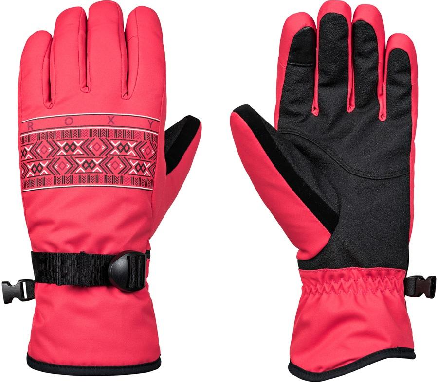 Roxy Freshfield Women's Snowboard/Ski Gloves, L Teaberry