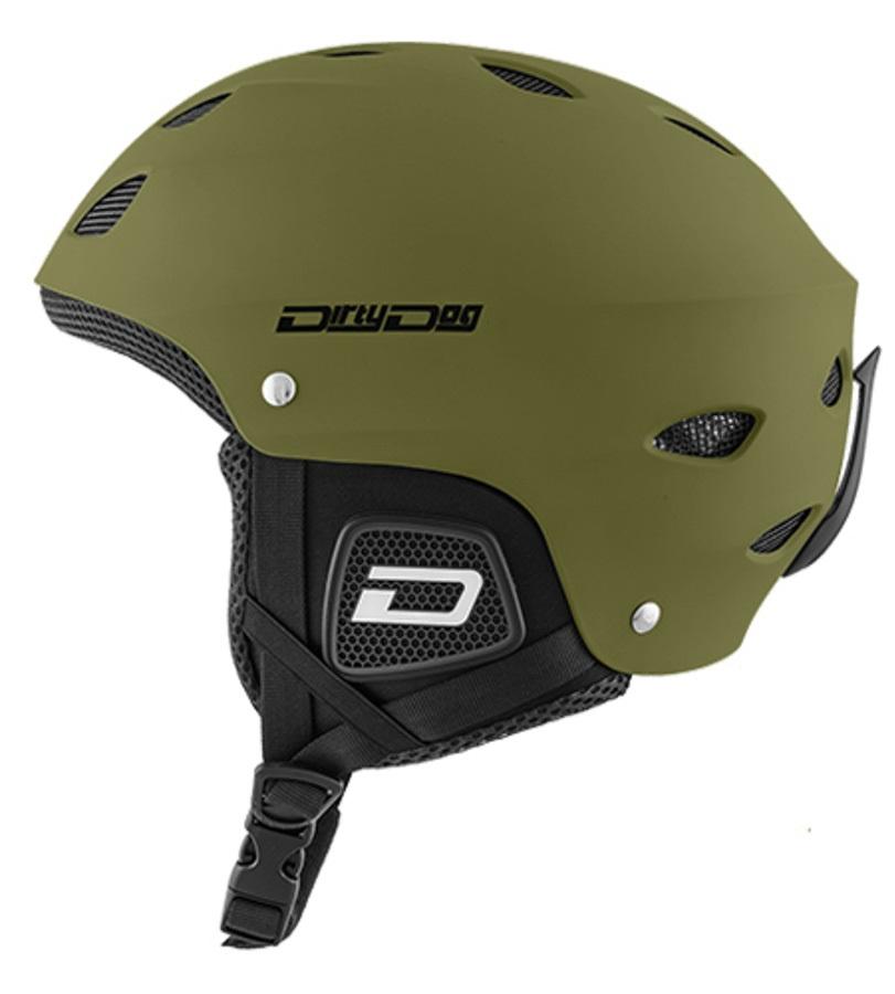 Dirty Dog Orbit Snowboard/Ski Helmet, M Matte Khaki