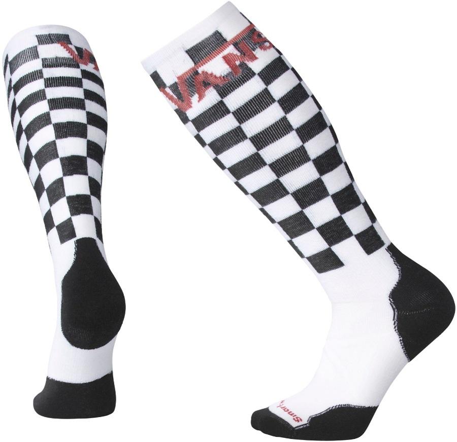 Smartwool PhD Slopestyle Medium Merino Snowboard Socks, L Vans Checker
