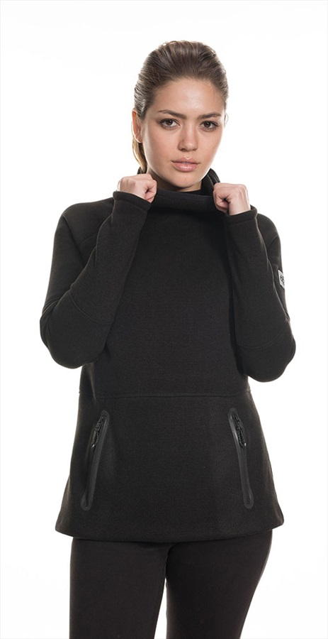 686 Knit Tech Women's Fleece Hoody, M Black Melange