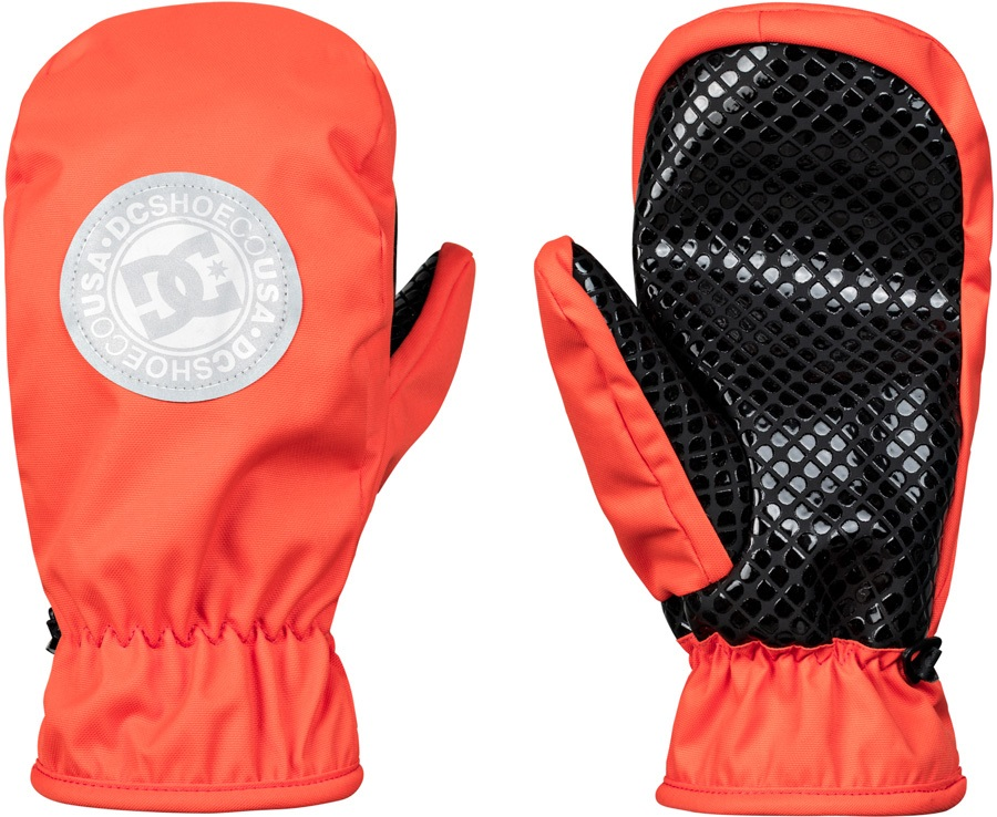 DC Shelter Ski/Snowboard Mitts, S Red Orange