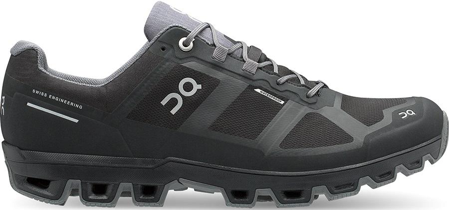 On Cloudventure Waterproof Men's Running Shoes, UK 12 Black/Graphit