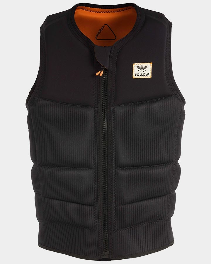 Follow Mitch Happy Fit Wakeboard Impact Vest, XL Black 2019