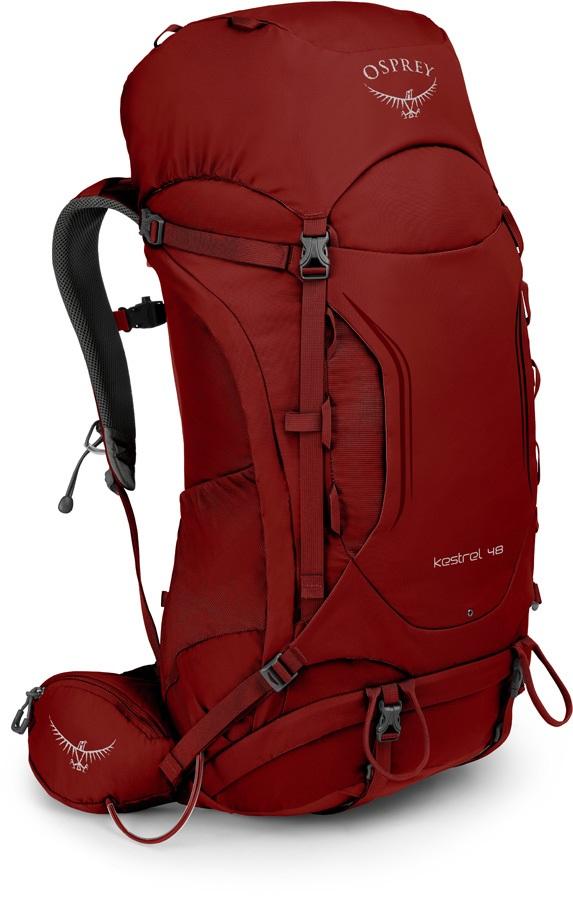 Osprey Kestrel 48 M/L Adventure Trekking Pack, Rogue Red
