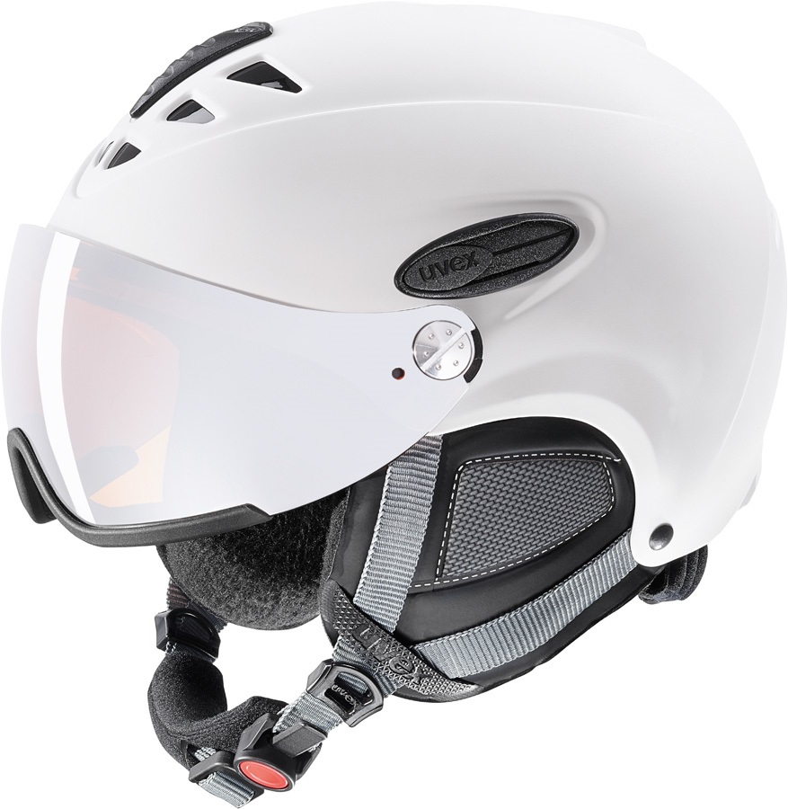 UVEX Hlmt 300 Ski/Snowboard Visor Helmet, L Matte White