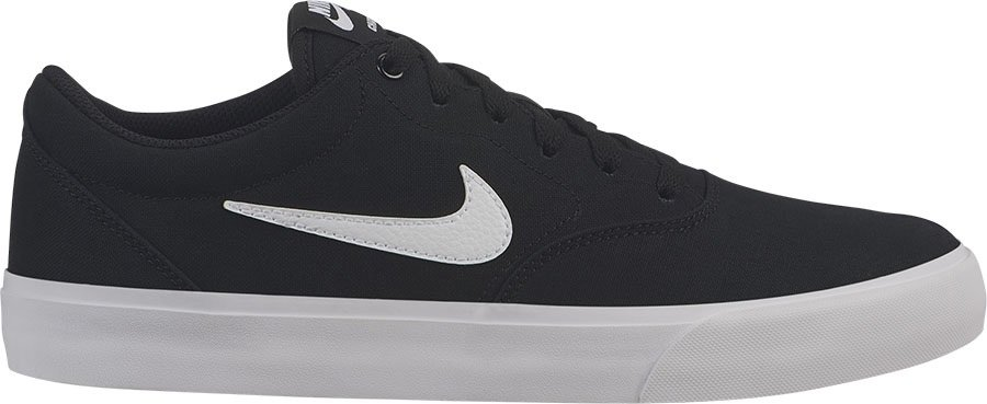 Nike SB Charge Solarsoft Canvas Skate Shoes, UK 4 Black/White