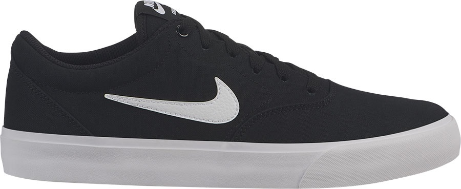 Nike SB Charge Solarsoft Canvas Skate Shoes UK4.5 Black/White