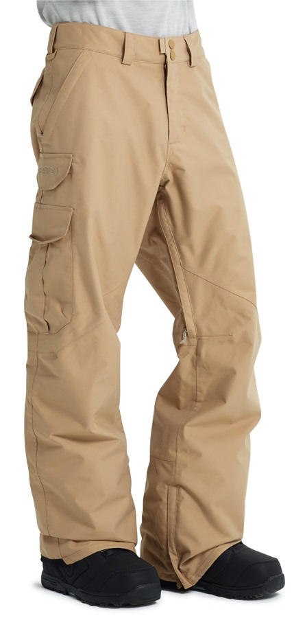 Burton Cargo Tall Fit Snowboard/Ski Pants, S Kelp Brown