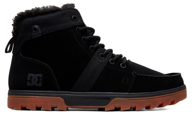 DC Woodland Men's Winter Boots, UK 9 Black/Gum