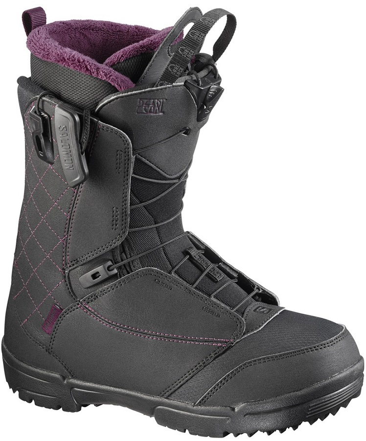 Salomon Pearl Womens Snowboard Boots, UK 5.5, Black/Bordeaux, 2017