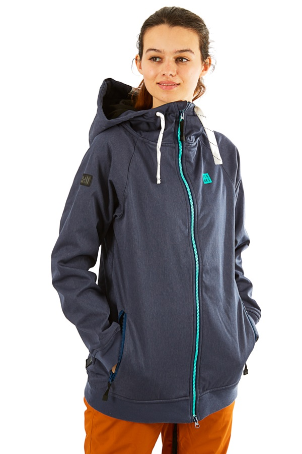 Planks Reunion Women's Ski/Snowboard Jacket, S Heather Navy