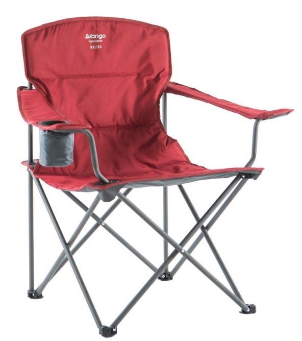 Vango Malibu Folding Padded Camp Chair, Carmine Red