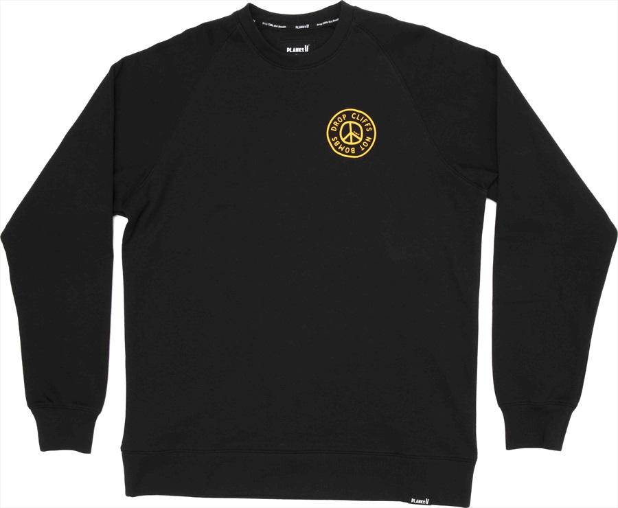 Planks Peace Crew Sweatshirt/Crew, L, Black