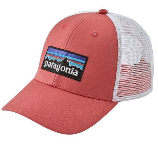 Patagonia Women's P-6 Label Layback Trucker Hat, OS Spiced Coral