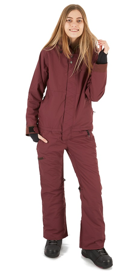 Airblaster Insulated Freedom Womens Ski/Snowboard Suit, M Berry