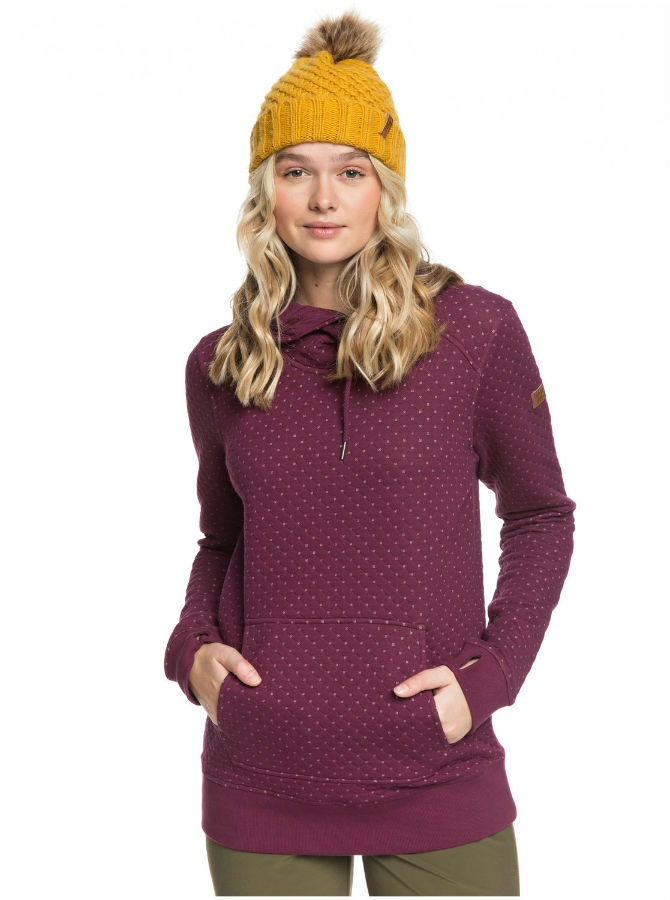 Roxy Dipsy Women's Snowboard/Ski Hoodie, S Grape Wine