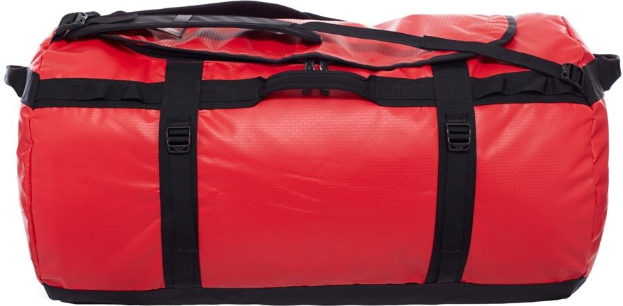 The North Face Base Camp Duffel Travel Bag, 155L TNF Red/TNF Black
