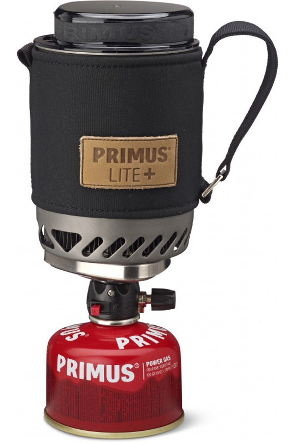 Primus Lite+ Stove Lightweight Backpacking Stove, Red/Black