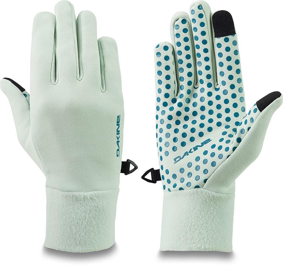 Dakine Storm Women's Ski/Snowboard Liner Gloves, M Green Lily